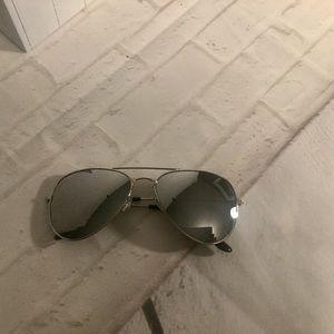 Accessories - Women's outdoor UV400 silver sunglasses pilot NEW